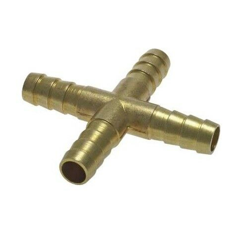 Air Tee Y-Piece Compressed Air Cross Hose Connector Brass PN 16