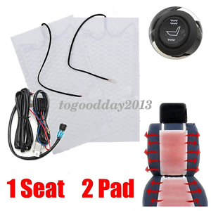 1-Seats-Universal-Carbon-Fiber-Heated-Cushion-Seat-Heater-Pad-Kit-Switch-12V