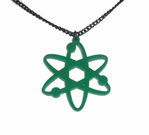 Atom-Necklace-Science-Gift-Geek-Jewelry-Green-Laser-Cut-Pendent-Quirky