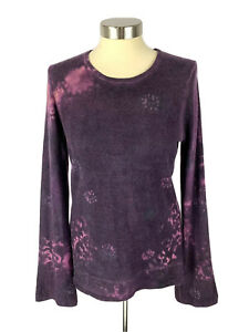 MARIKA-CHARLES-Womens-Cashmere-Sweater-Pullover-Size-S-Purple-Tie-Dye