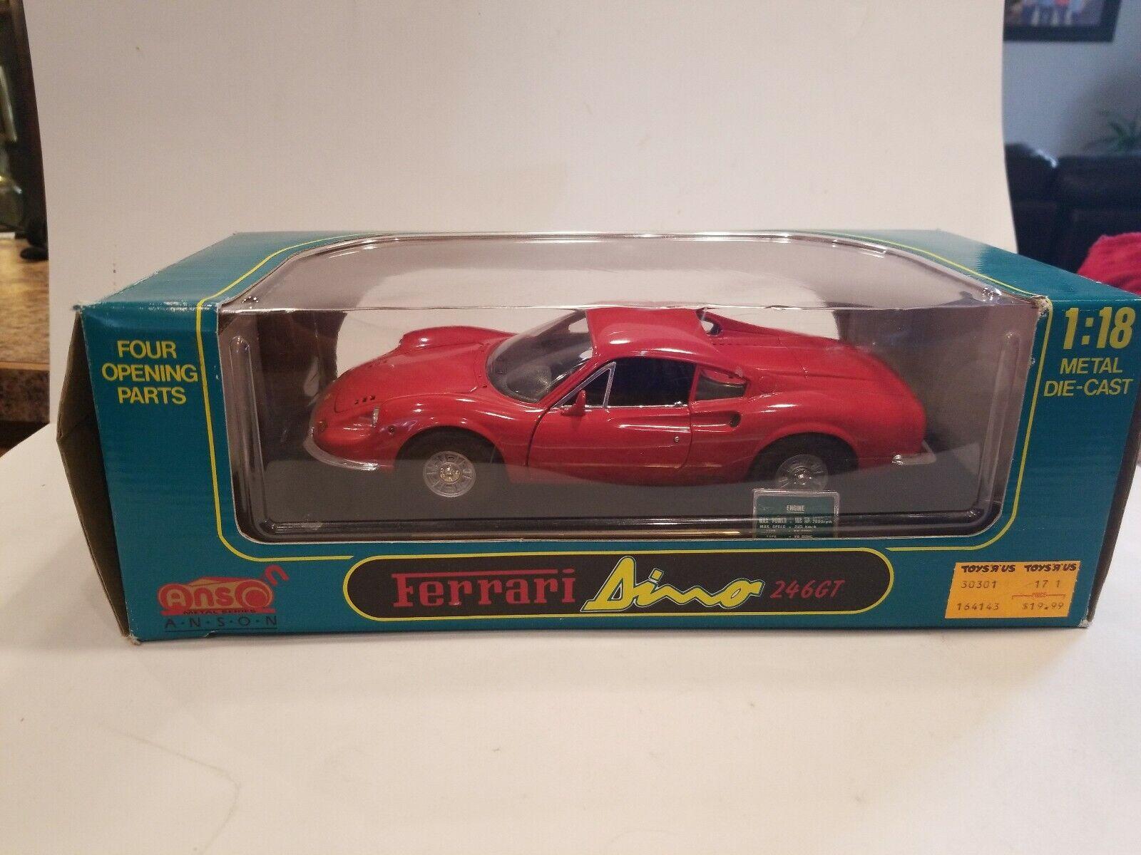 ANSON FERRARI DINO 246 GT 1 18 scale - rot