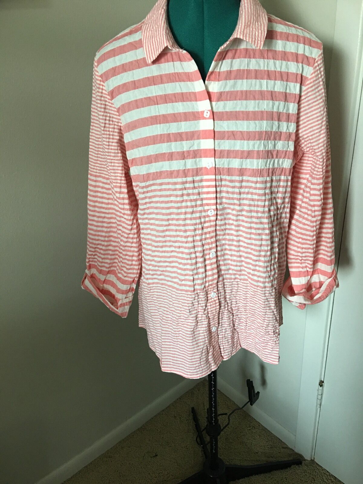 Habitat Papaya Cotton shirt.Größe  M.NWT.