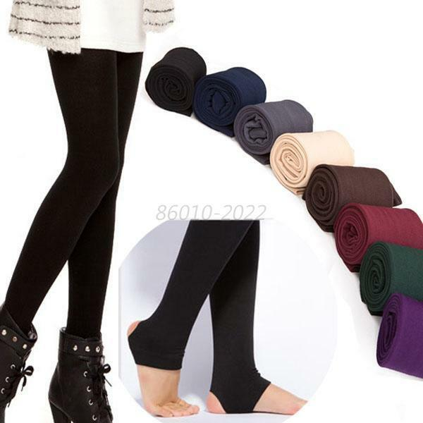 Women Sexy Thick Pants Warm Solid Elastic Fleece Lined Thermal Stretchy Leggings