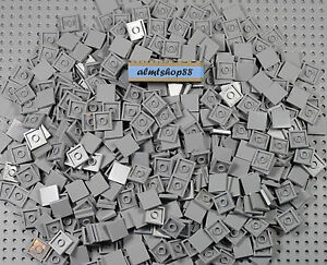 LEGO - 2x2 Tiles Light Bluish Gray Finishing Smooth Plates Square 3068b Bulk Lot