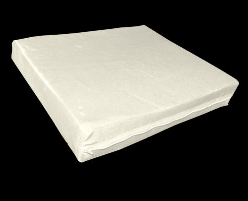 mo88t Beige Shimmer Velvet Style 3D Box Thick Sofa Seat Cushion Cover*Custom