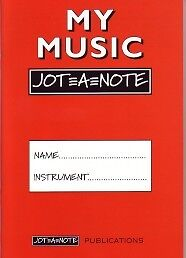 MY MUSIC JOT-A-NOTE Practice Notebook Red