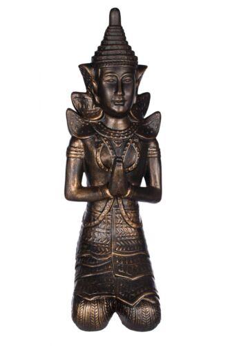 Tempelwächter  Innen und Außen Buddha Figur 48 cm hoch SLD 1304009-1 Bronze