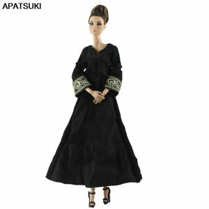 Black-Evening-Party-Dresses-For-Barbie-Doll-Outfits-Muslim-Clothes-for-BJD-Dolls
