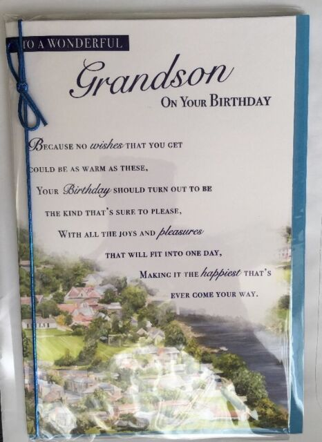 With Love To A Wonderful Grandson On Your Birthday