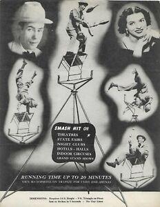 Original Programme Hap Hazard Parlant Comedian & Jongleur Assisté Par Mary Hart