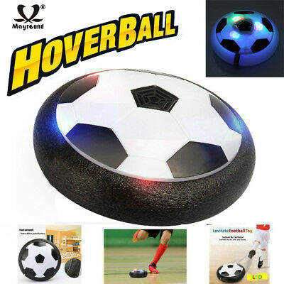 Blue Snoky Hover Soccer Ball for Kid 3 4 5 6 7 8-16 Years Boys Fun Toys Soccer Hover Ball Floating Soccer Air Power Training Ball Outside Indoor Activity Football Game Toy Birthday Gifts for Child