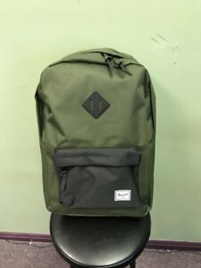 7f3c1f1c027 Image is loading Herschel-Supply-Co-Heritage-Forest-Night-Black-Backpack-