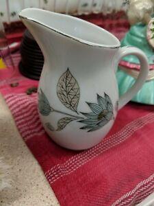 Vintage Yamaka China Japan Bud Vase Pitcher Creamer Lotus Flowers Ceramic RARE
