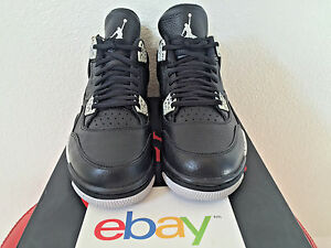 0cfec67a0a33 2015 DS Air Jordan 4 Retro iv OREO Sizes 8-13 black cement grey fear ...
