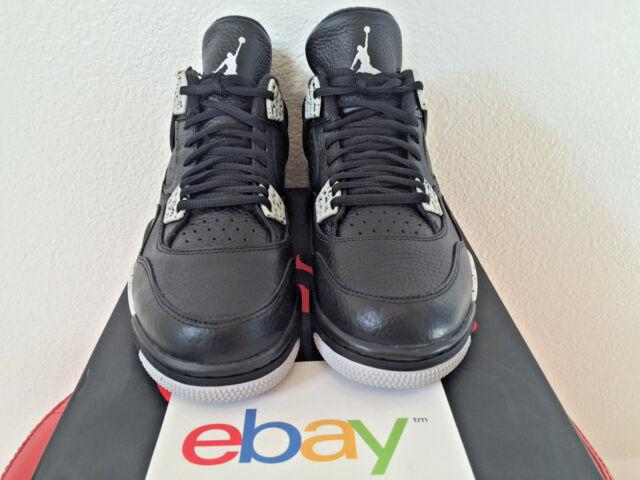 2015 DS Air Jordan 4 Retro iv OREO Sizes 8-13 black cement grey fear 314254 003