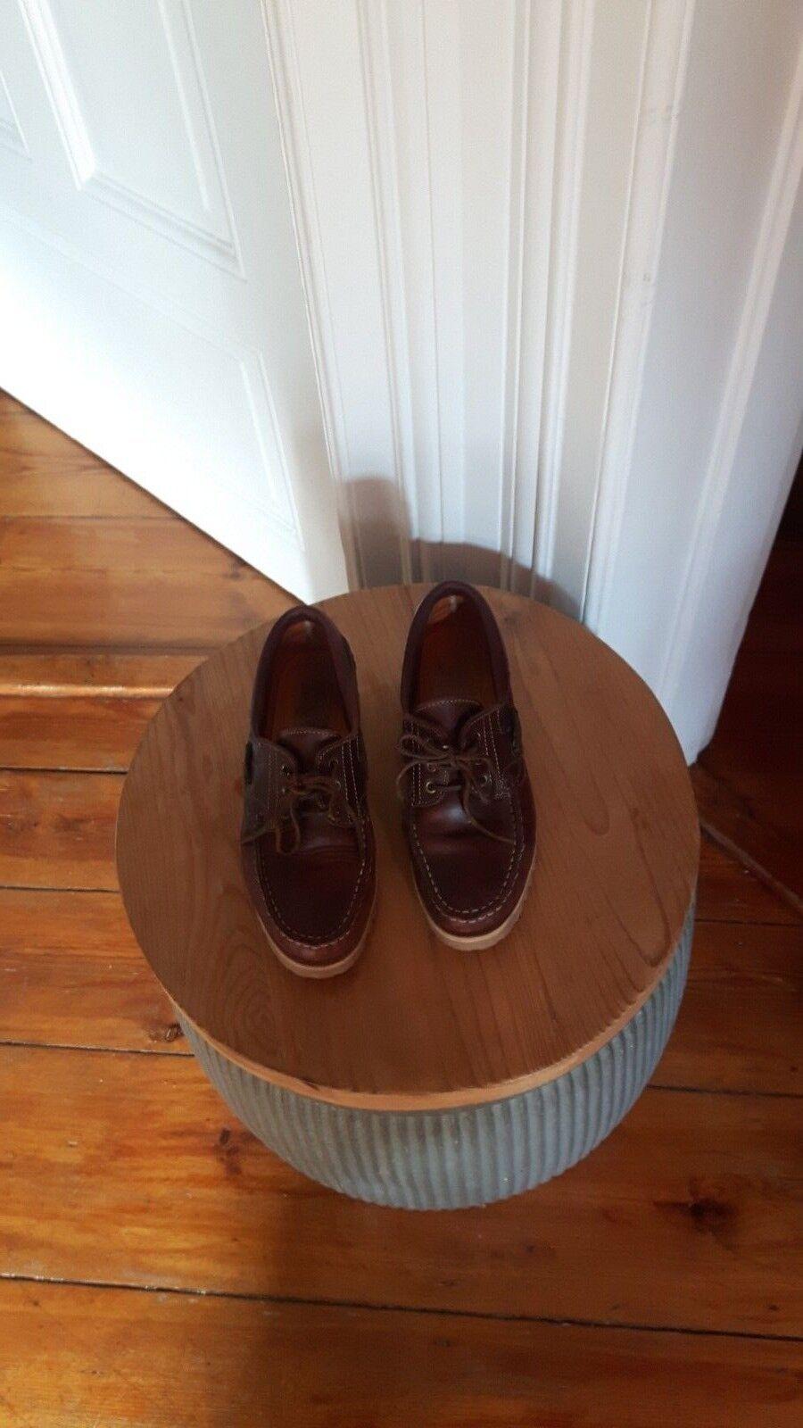 Van Bommel Original Bootsschuhe Leder brown Grösse 40 TOP