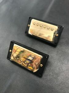 Gold-Import-Humbucker-Pickups-w-Mounting-Rings-Epiphone