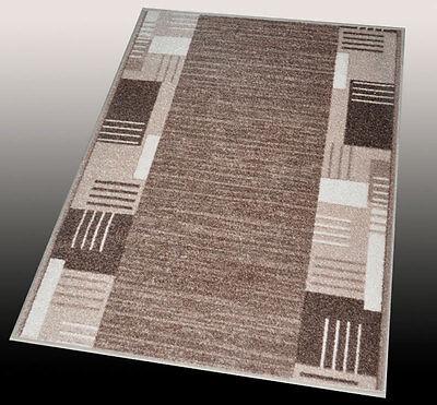 Teppich Läufer AW Montana beige grau 100 cm Breite (Länge 100-395cm nach Maß)