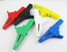 6pcs 1000v 32a Battery Alligator Kelvin Test Clip To 4mm Banana Jack 6 Colors