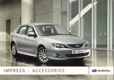 Subaru Impreza Accessories 2008 UK Market Sales Brochure 1.5 2.0 STi