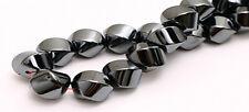 Spectacular Large Hematite Round Twist Focal Beads 10MM