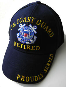 Image is loading USCG-US-COAST-GUARD-RETIRED-QUALITY-EMBROIDERED-BASEBALL- c35a9d5f6818