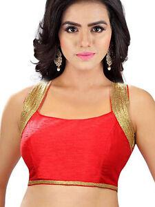 Latest Party Wear Fancy Choli Designer Wedding Stitched Bridal Red Saree Blouse