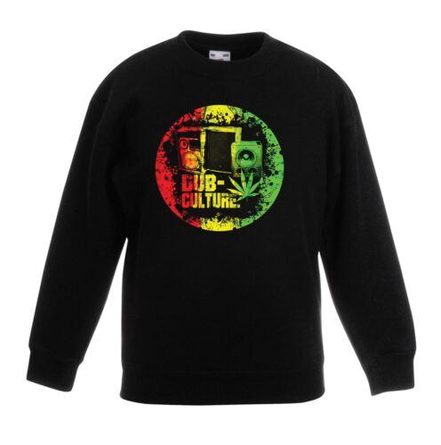Dub Culture Reggae Children/'s Kids Sweatshirt Jumper Bob Marley Rasta
