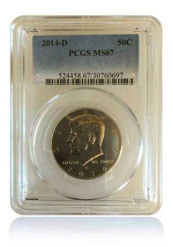 PCGS MS67 2014-D Kennedy Half Dollar Gem Uncirculated