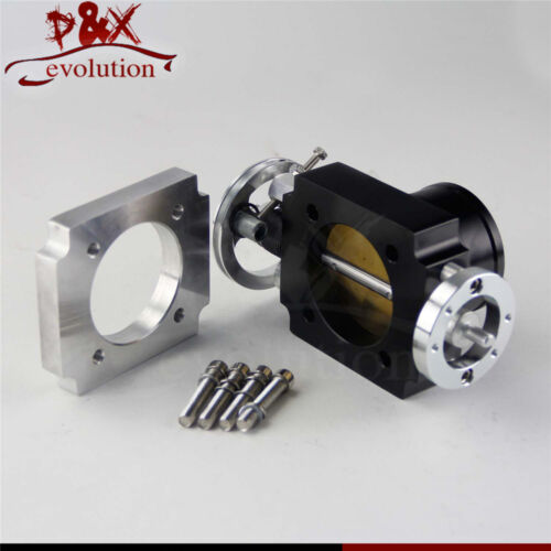 "65mm 2.5/""inch CNC Billet Intake Throttle Body  Universal Aluminum Racing Black"