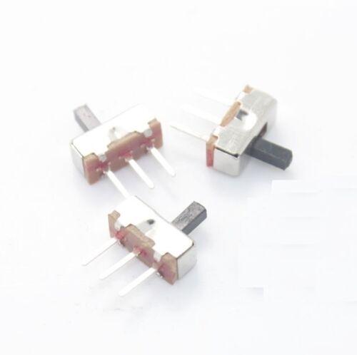 100 un. ss12d00g4 SPDT 1p2t 2 posición 3 Pin Pcb Panel Vertical interruptor deslizante L8