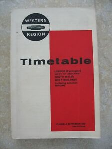 British-Railways-Western-Region-Passenger-Timetable-June-1963-inc-Map