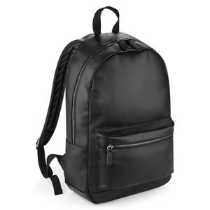 56b1963fce62 Details about Bagbase Faux Leather Fashion Backpack Bag Mens Womens Unisex  Rucksack (BG255)