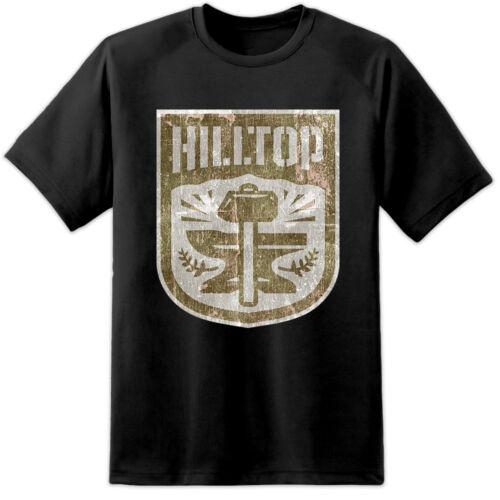 Mens Walking Dead HILLTOP Distressed T Shirt Negan Rik Daryl Lucile Kingdom TV