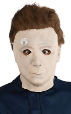 Michael Myers Halloween 3/4 Mask With Hair Fancy Dress Costume Accessory P9506
