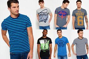 Neues-Herren-Superdry-T-shirts-Versch-Modelle-und-Farben-1610