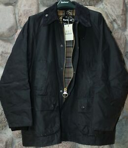 Barbour-Waxed-Jacket-Coat-Bedale-Navy-MWX0018NY9144-New-Size-44
