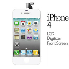 LCD Display Touch Screen Digitizer Glass Lens Assembly For iPhone 4/4G GSM white