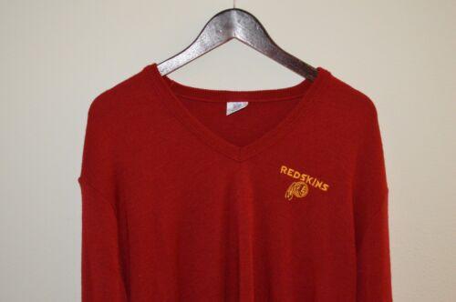 Pull 70 Washington XL Redskins V Années Acrylique hommess Vintage 80 Nfl Taille True En Années Col iuOPkZX