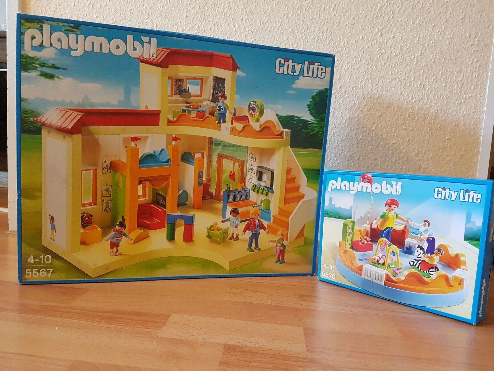 PLAYMOBIL 5567 - Kita Sonnenschein inkl. Ergänzung Playmobil 5570. OVP.