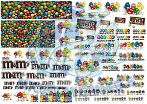 M-amp-Ms-Racing-Pack-Waterslide-Decals-for-Hot-Wheels-amp-all-scale-Model-Cars