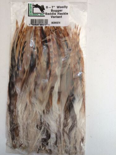 "STRUNG SADDLE HACKLE 6-7/"" Great for Woolly Buggers /& Streamer Fly Tying"