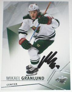 MIKAEL-GRANLUND-SIGNED-15-16-UPPER-DECK-SPA-MINNESOTA-WILD-CARD-AUTOGRAPH-AUTO