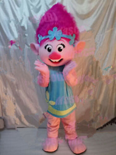 Adult Outfit Cosplay Poppy Mascot Costume Trolls Princess Parade Fancy Dress