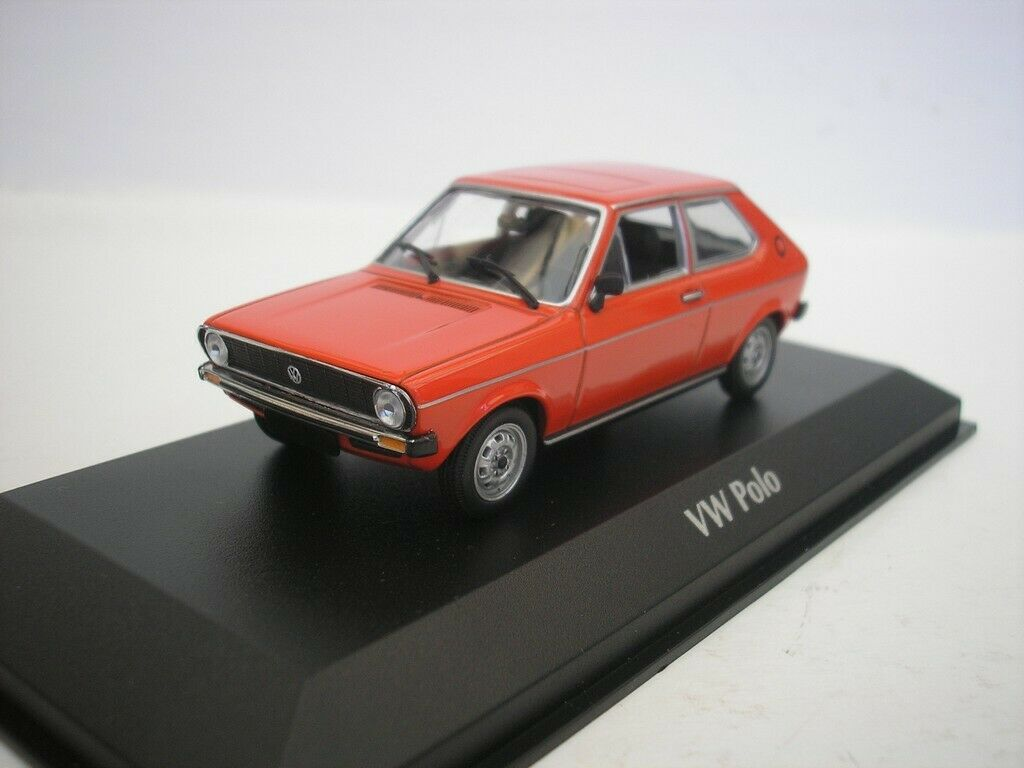 VW Volkswagen Polo 1979 rouge  1 43 Maxichamps 940050500 Nuovo  édition limitée