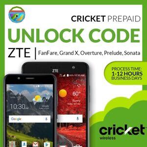 UNLOCK CODE FOR ZTE GRAND X MAX 2 Z988 CRICKET PREPAID FROM AMAZON/BESTBUY<wbr/>/WALMA