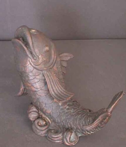 Classic Fish Spitter Fountain Real Bronze includes adjustable Pump