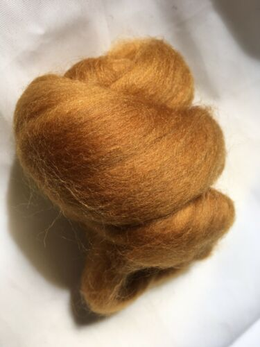 New *** 10g Strawberry Blonde Yellow Merino Wool Combed Tops// Wool For Felting
