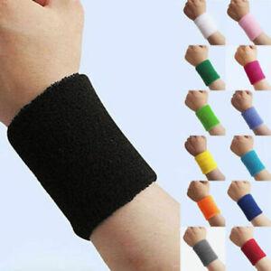Unisex-Terry-Cloth-Cotton-Sweatband-Sports-Wrist-Tennis-Yoga-Sweat-WristBand-Bu
