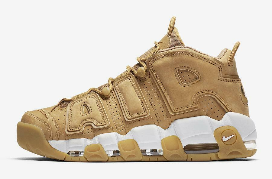 Nike Air More Uptempo Wheat Flax. Size 12.5. AA4060-200.